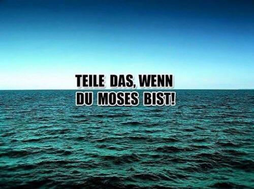 Teile Das! .... wenn du Moses bist.